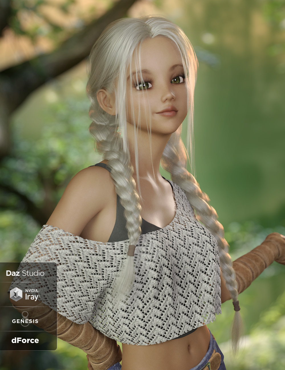 Lori Hair for Genesis 3 and 8 Female(s) by: Lady Littlefox, 3D Models by Daz 3D