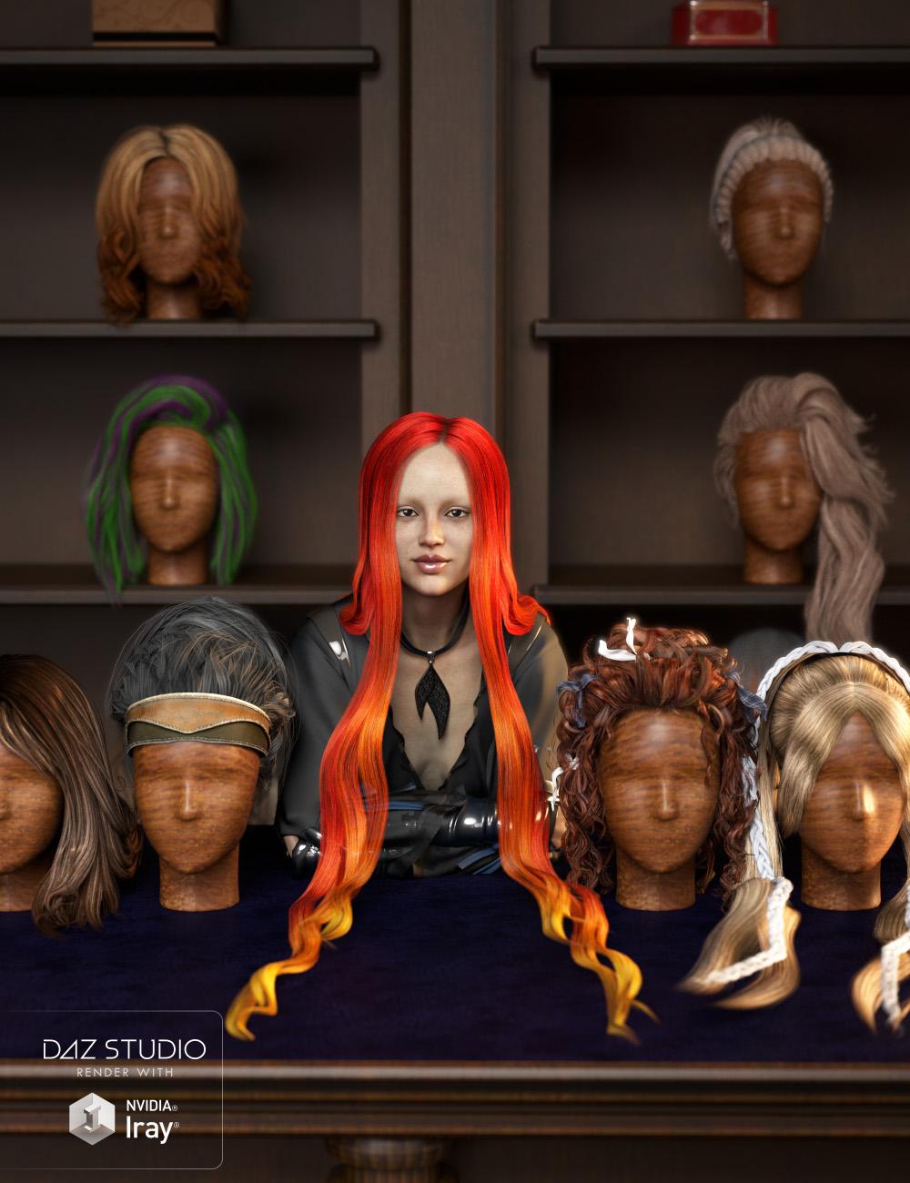 RSSY Hair Converter from Genesis 2 Female to Genesis 8 Female by: SickleyieldRiverSoft Art, 3D Models by Daz 3D