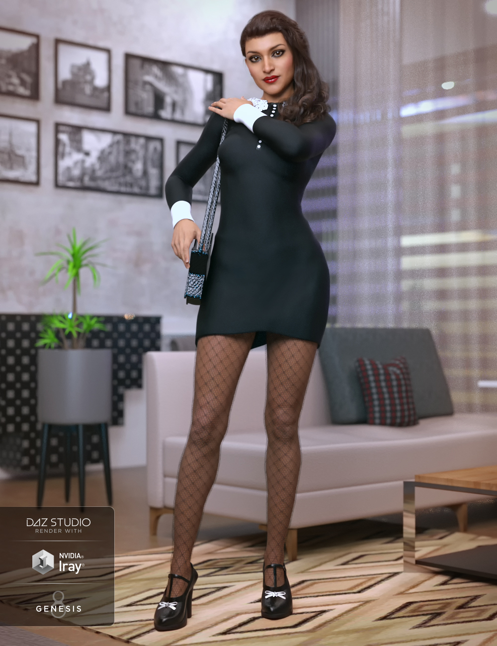 Saturday Night Dress Outfit for Genesis 8 Female by: Lyrra MadrilMoonscape GraphicsSade, 3D Models by Daz 3D