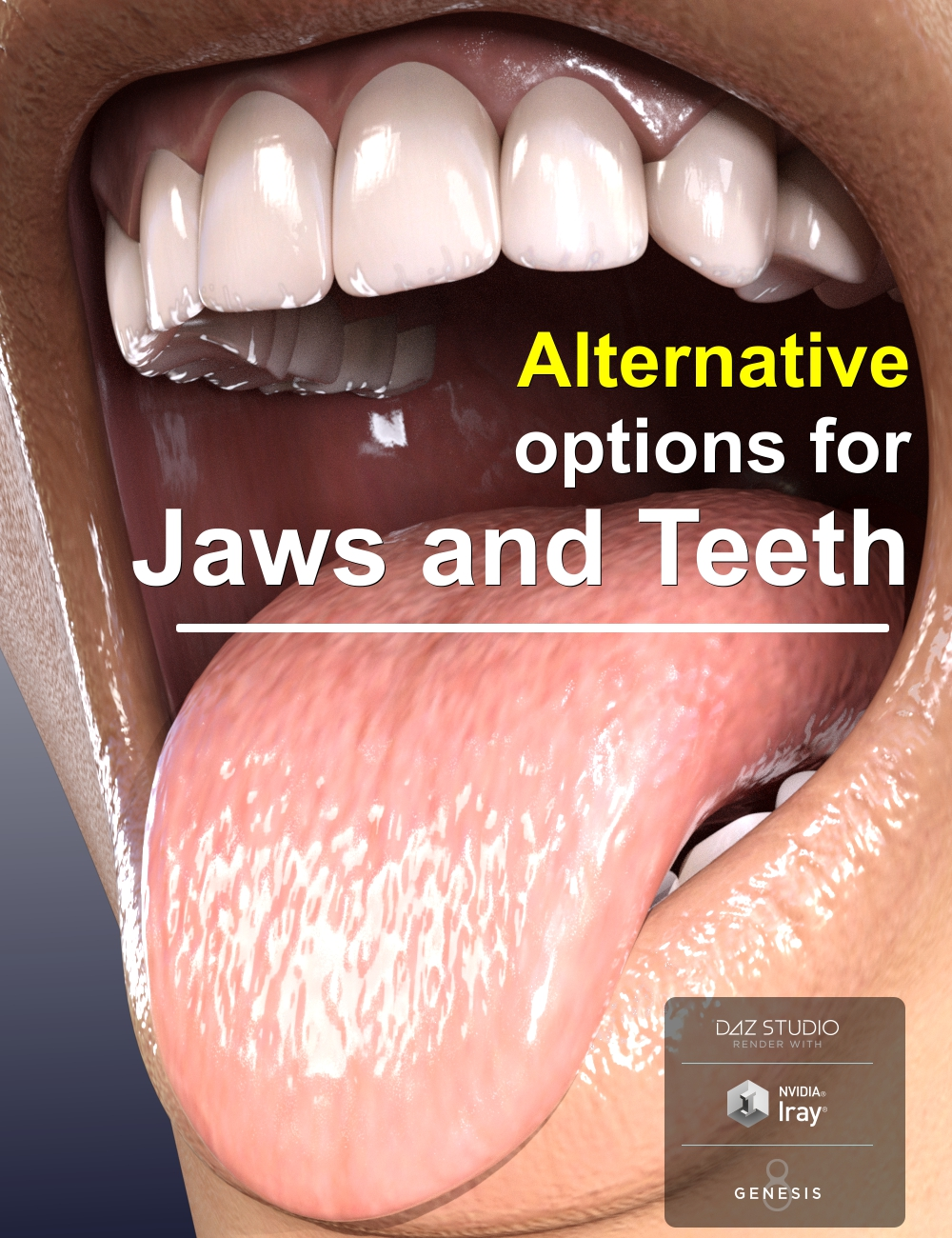 Alternative Jaws and Teeth for Genesis 8 Female(s) by: AlFan, 3D Models by Daz 3D