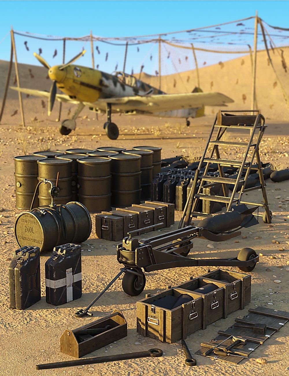 Luftwaffe Ground Support Equipment by: Predatron, 3D Models by Daz 3D
