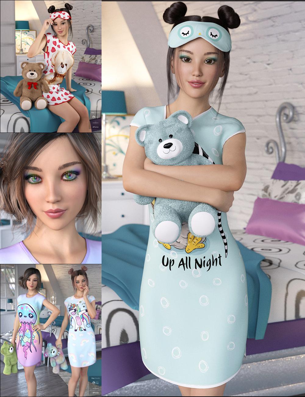 Snuggle Up Bundle by: DemonicaEviliusJessaii, 3D Models by Daz 3D