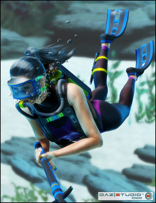V4 Diving Gear 2 by: , 3D Models by Daz 3D