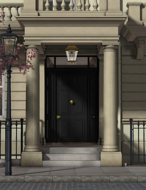 Townhouse by: Ness Period Reproductions, 3D Models by Daz 3D