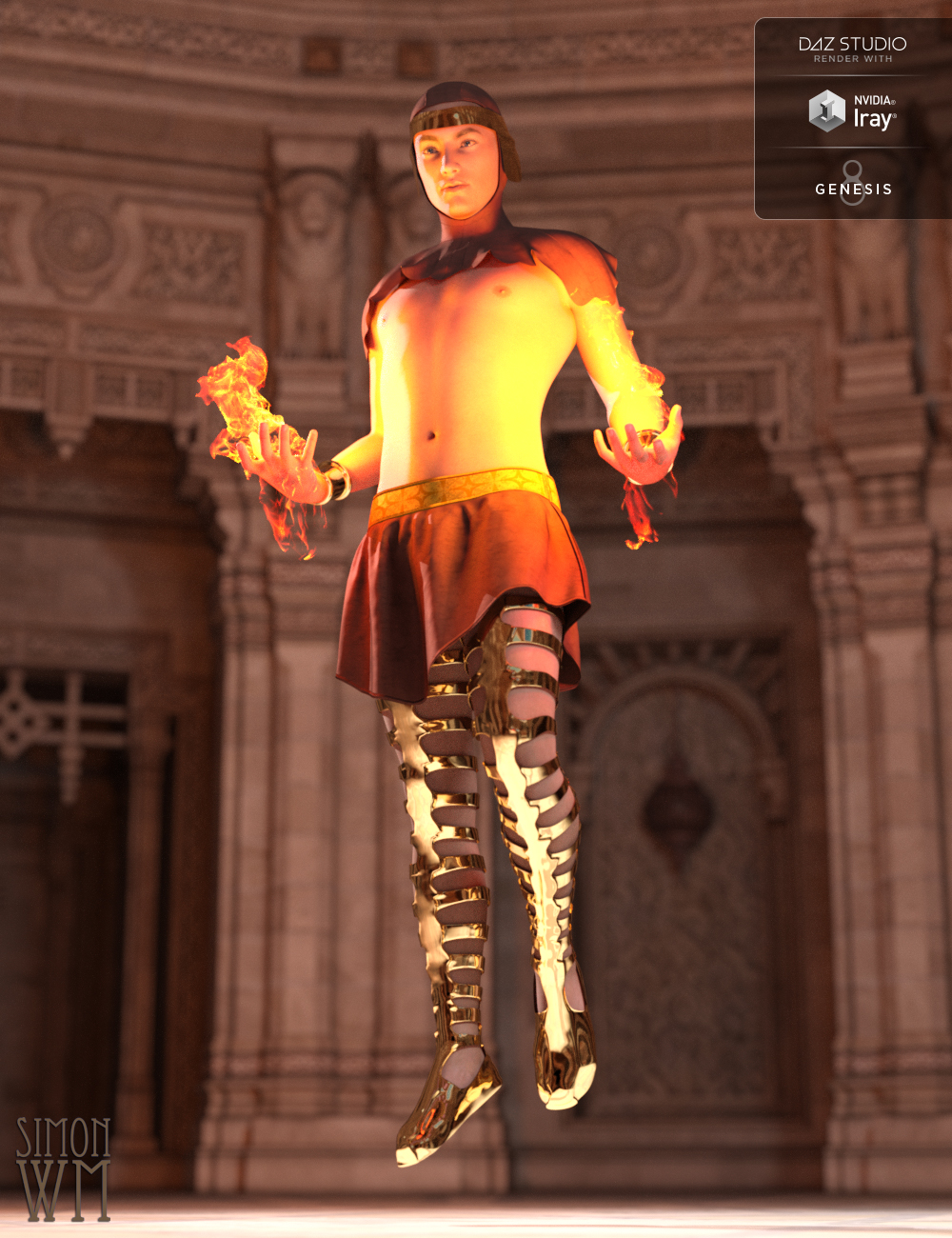 Chronicles of the Gods Outfit for Genesis 8 Male(s) by: SimonWM, 3D Models by Daz 3D