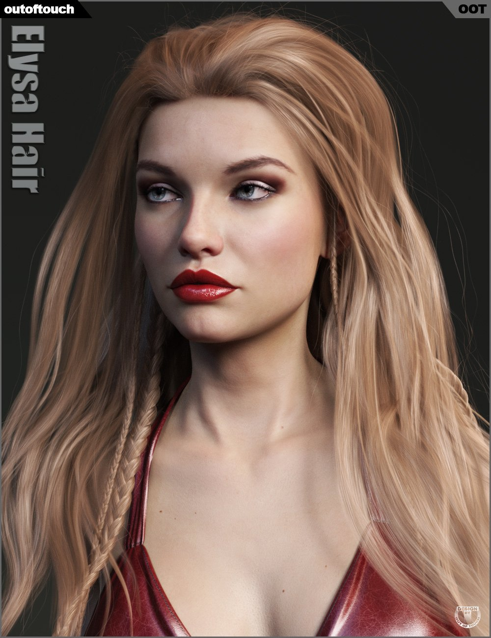 Elysa Hair for Genesis 3 and 8 Female(s) by: outoftouch, 3D Models by Daz 3D