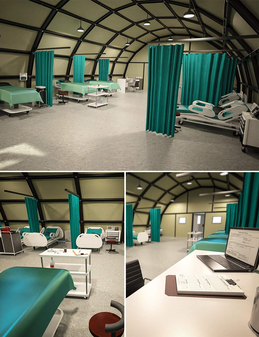 Military Camp Infirmary by: Tesla3dCorp, 3D Models by Daz 3D