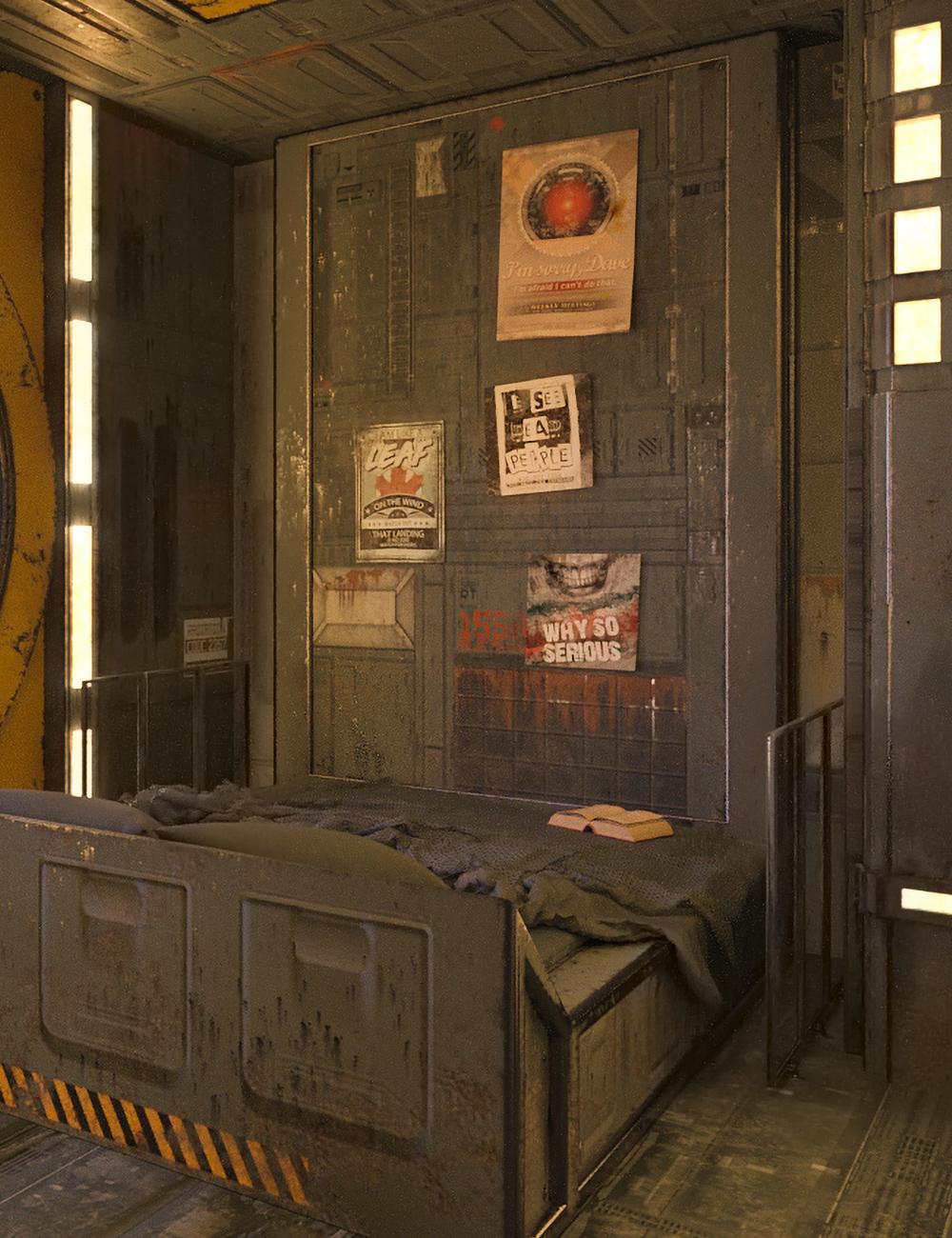 SciFi Living Bedroom by: Blackbeard Media, 3D Models by Daz 3D