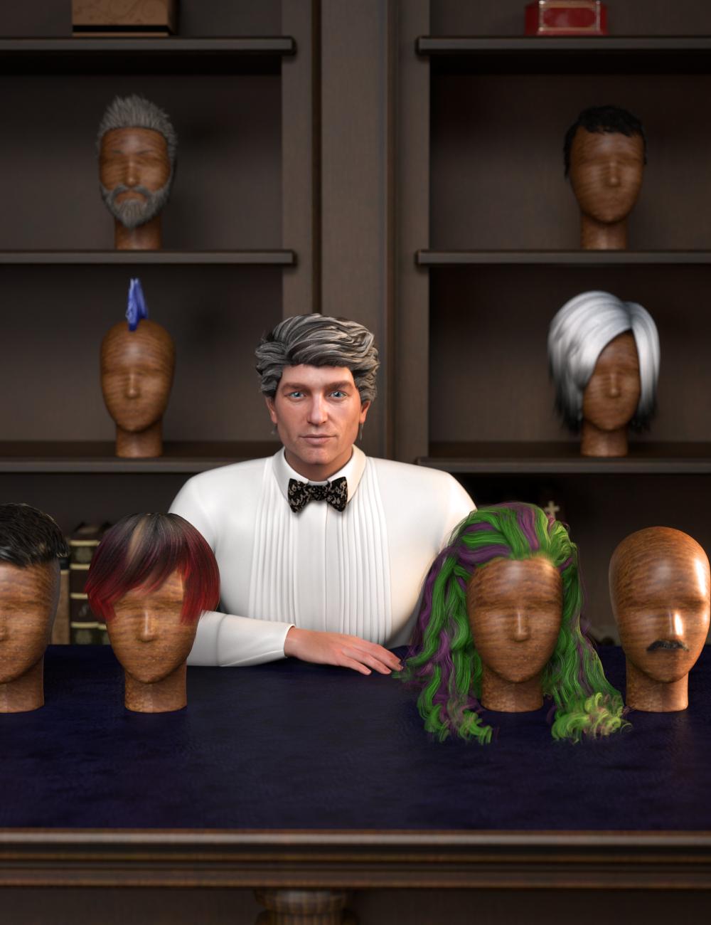 RSSY Hair Converter from Genesis 2 Male to Genesis 8 Male by: SickleyieldRiverSoft Art, 3D Models by Daz 3D
