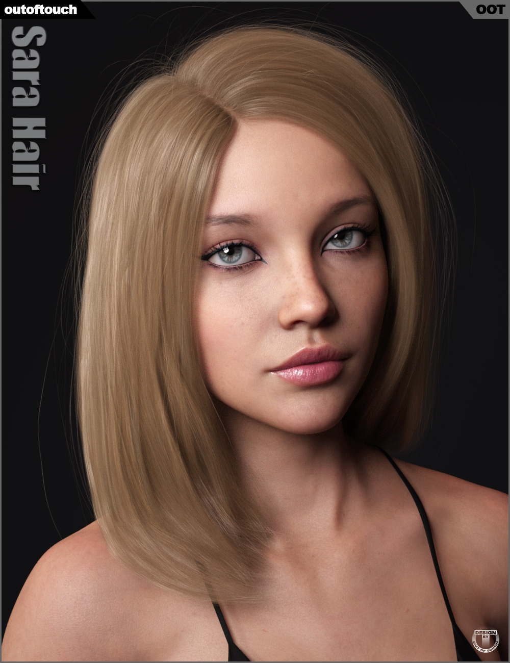 Sara Hair for Genesis 3 and 8 Female(s) by: outoftouch, 3D Models by Daz 3D