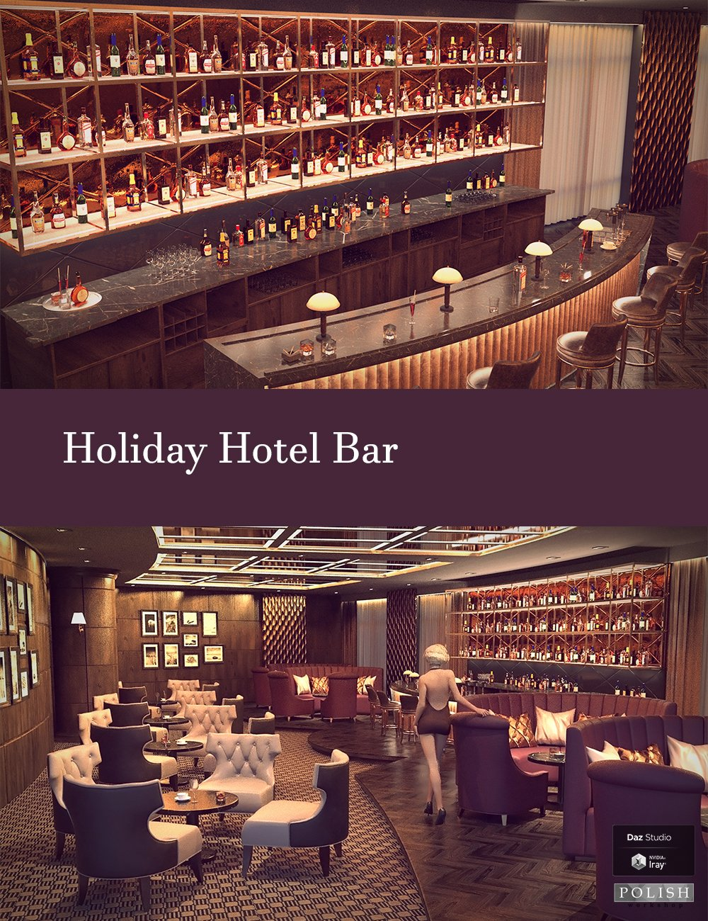 Holiday Hotel Bar by: Polish, 3D Models by Daz 3D