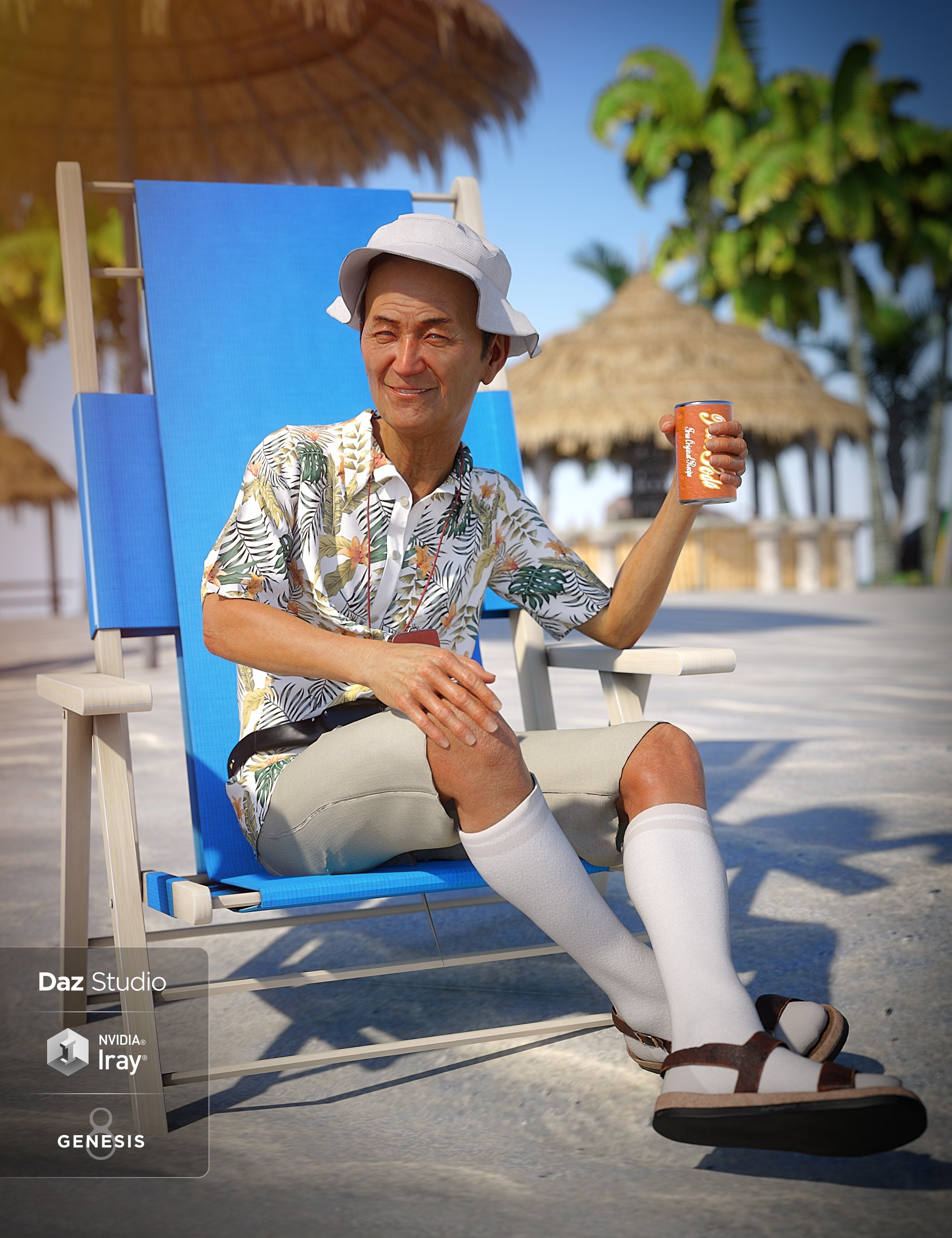 dForce On Vacation Outfit for Genesis 8 Male(s) by: 3D-GHDesignLyrra MadrilSade, 3D Models by Daz 3D