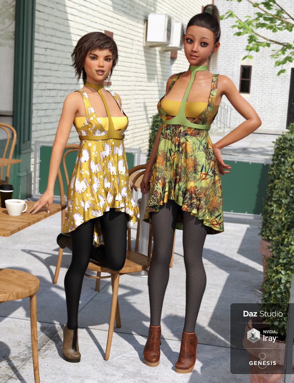 dForce Indo Spring Textures by: Moonscape GraphicsSade, 3D Models by Daz 3D