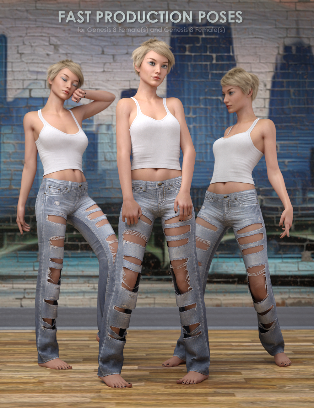 Fast Production Poses for Genesis 3 and 8 Female by: valzheimer, 3D Models by Daz 3D