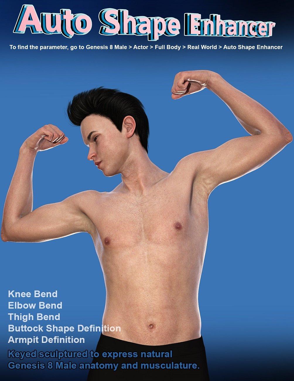 Auto Shape Enhancer for Genesis 8 Male by: D.Master, 3D Models by Daz 3D