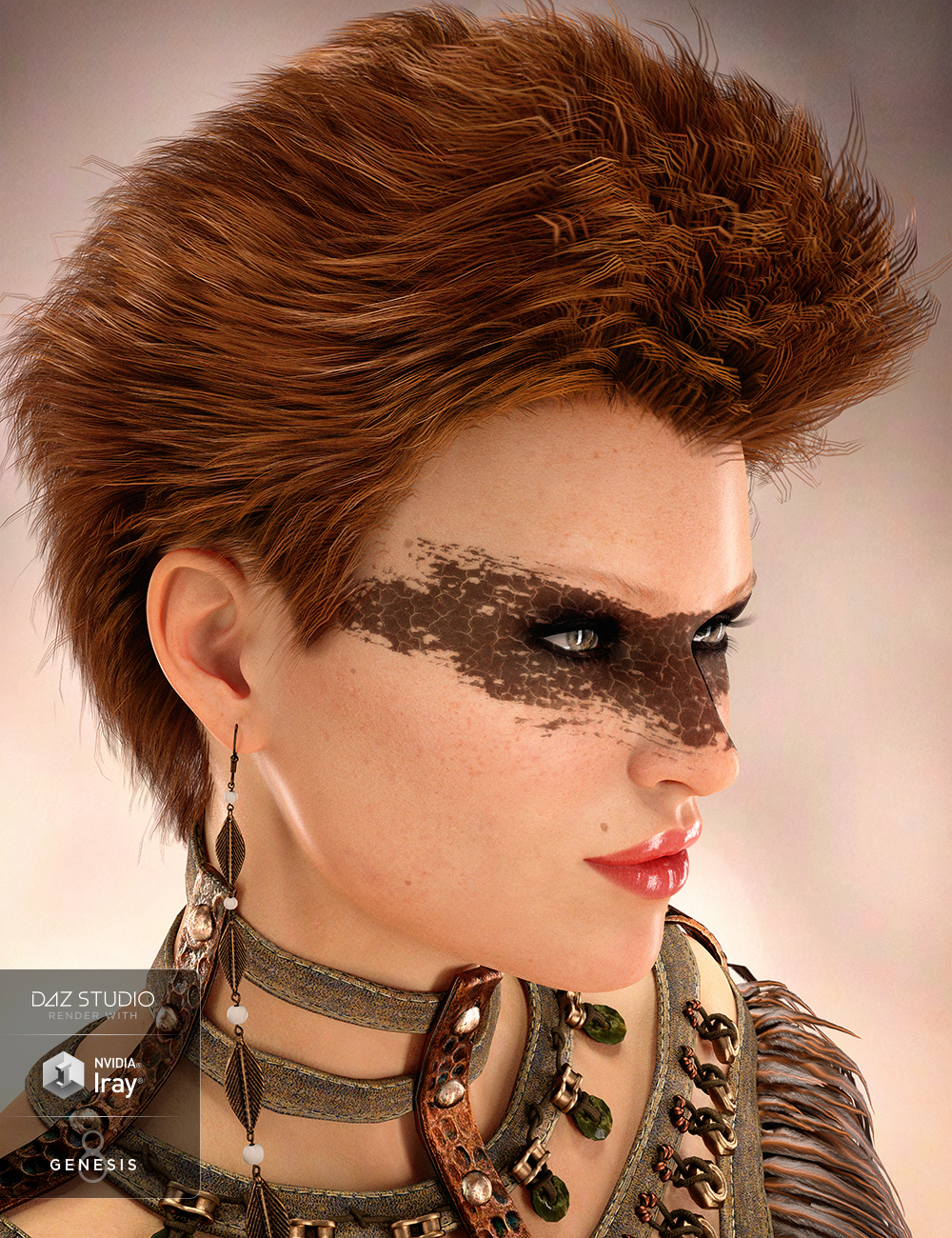 Ping Hair for Genesis 8 and Genesis 3 Female(s) by: 3DCelebrity, 3D Models by Daz 3D