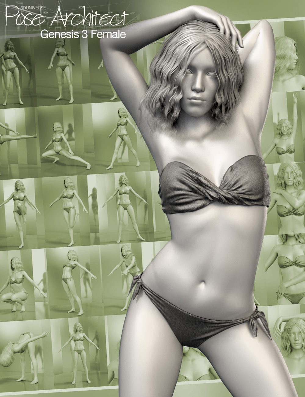 Pose Architect for Genesis 3 Female(s) by: 3D Universe, 3D Models by Daz 3D