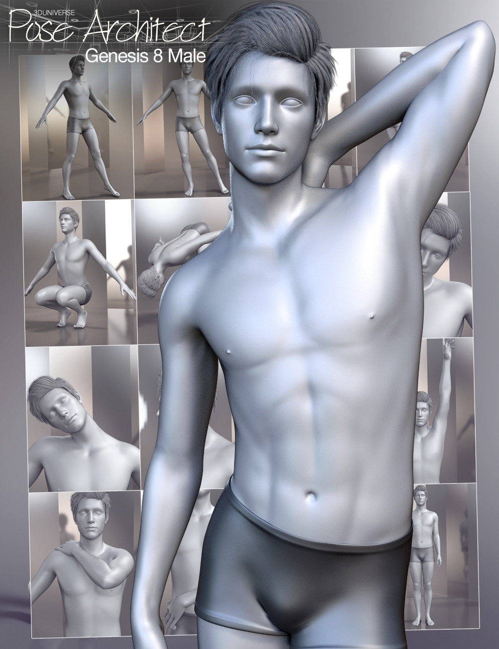 Pose Architect for Genesis 8 Male(s) by: 3D Universe, 3D Models by Daz 3D