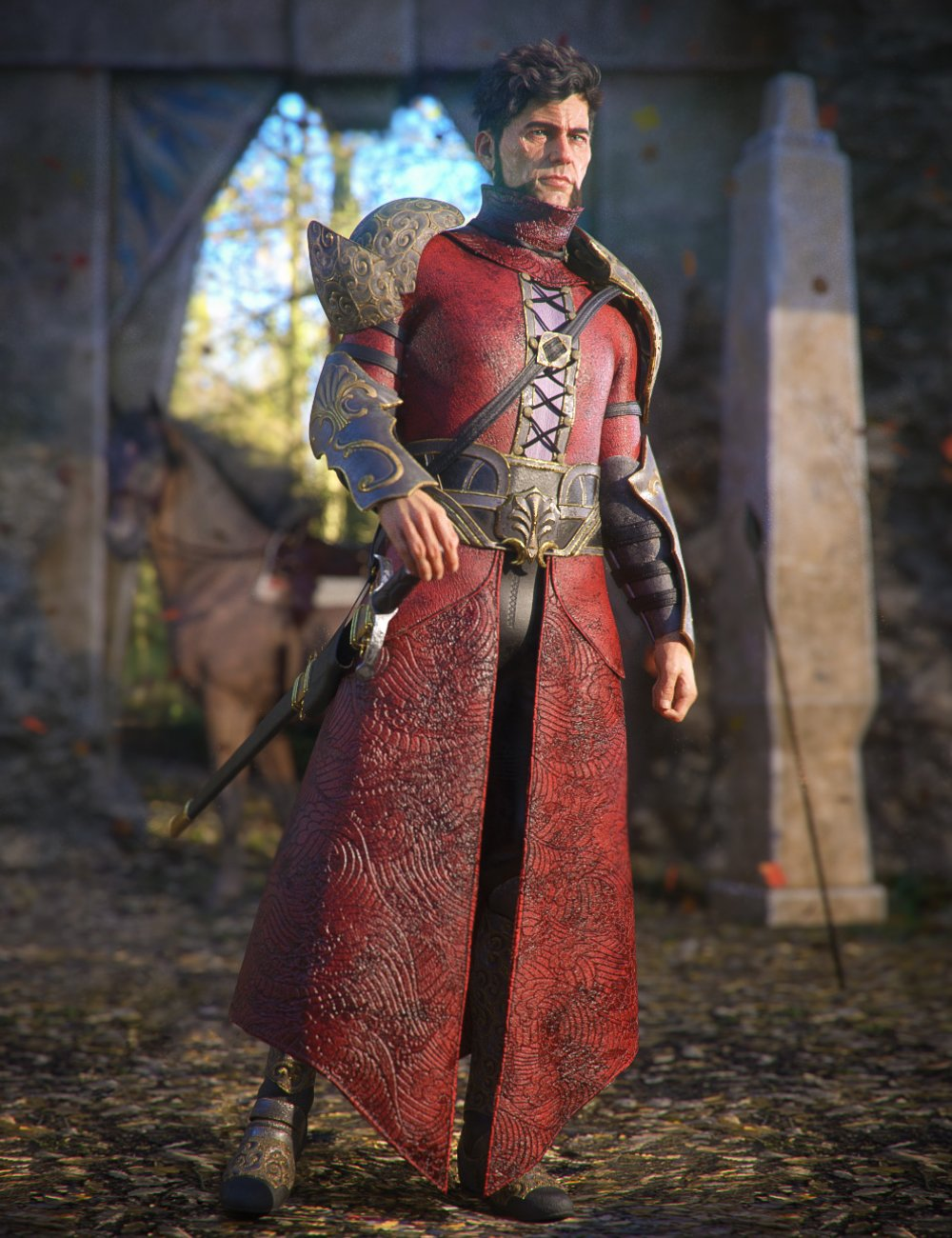 Gate Guardian for Genesis 8 Male(s) by: Moonscape GraphicsSadeRavenhair, 3D Models by Daz 3D