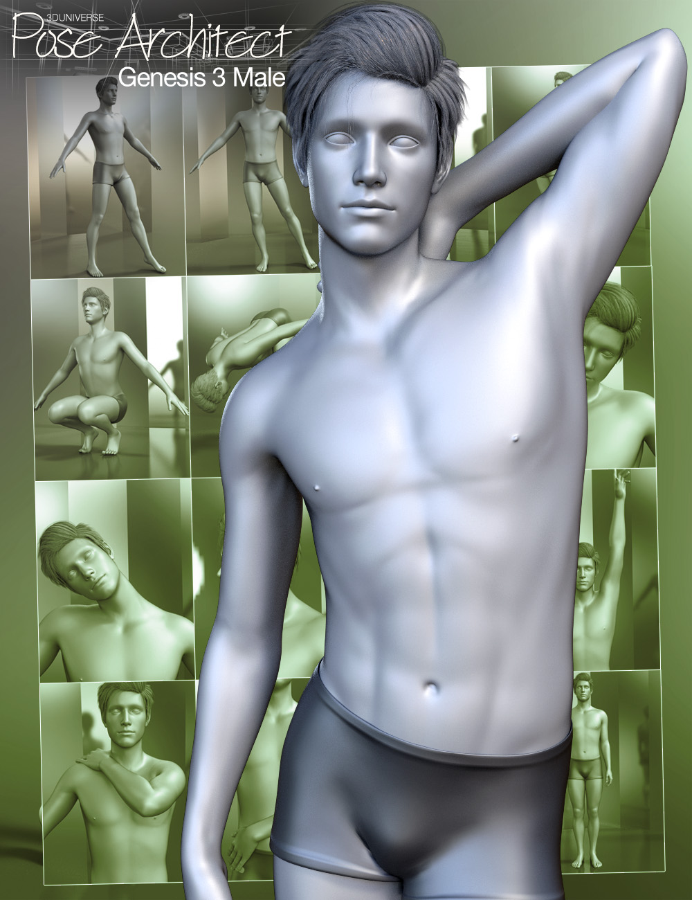 Pose Architect for Genesis 3 Male(s) by: 3D Universe, 3D Models by Daz 3D