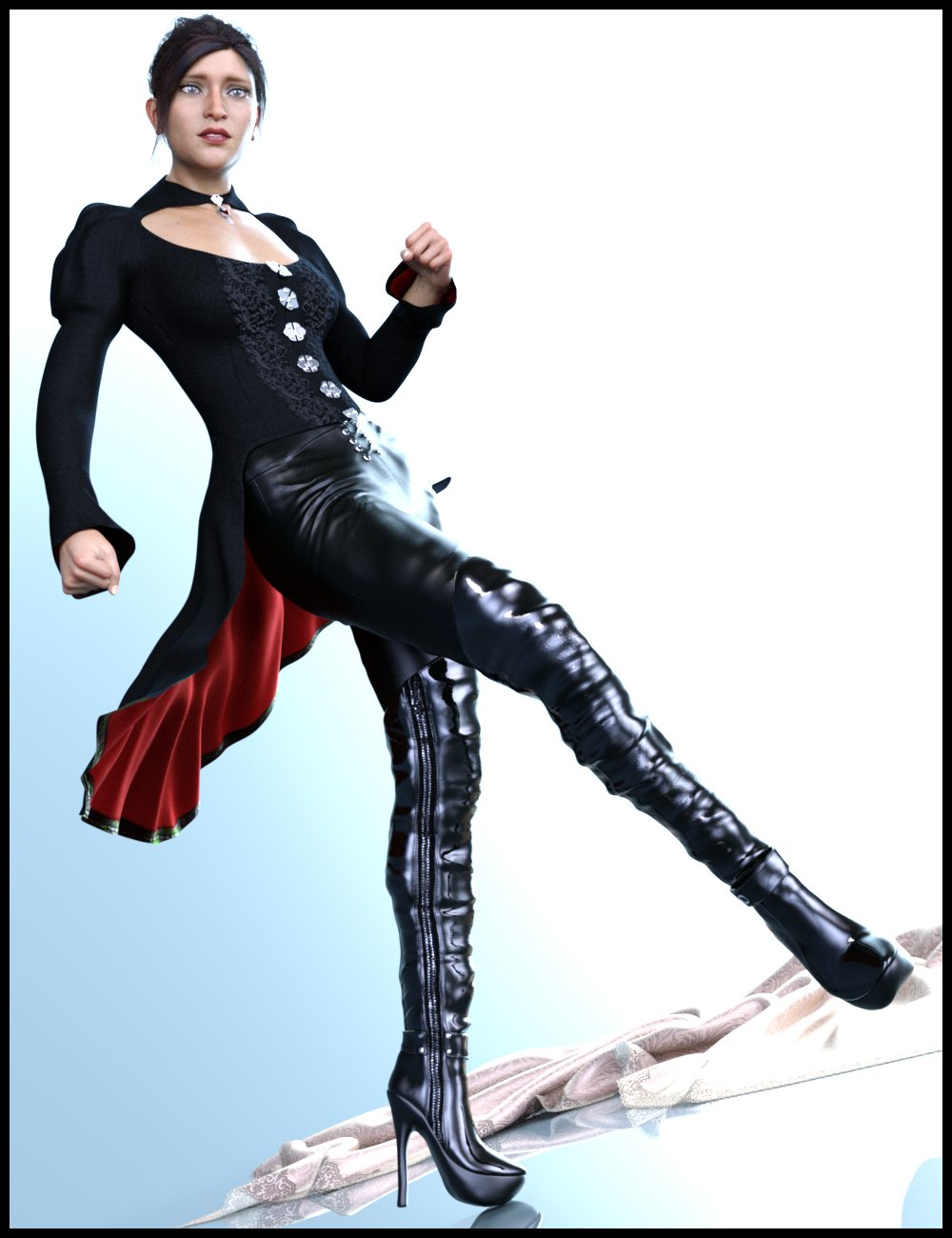 dForce ElisaXlook for Genesis 8 Female(s) by: Nathy, 3D Models by Daz 3D