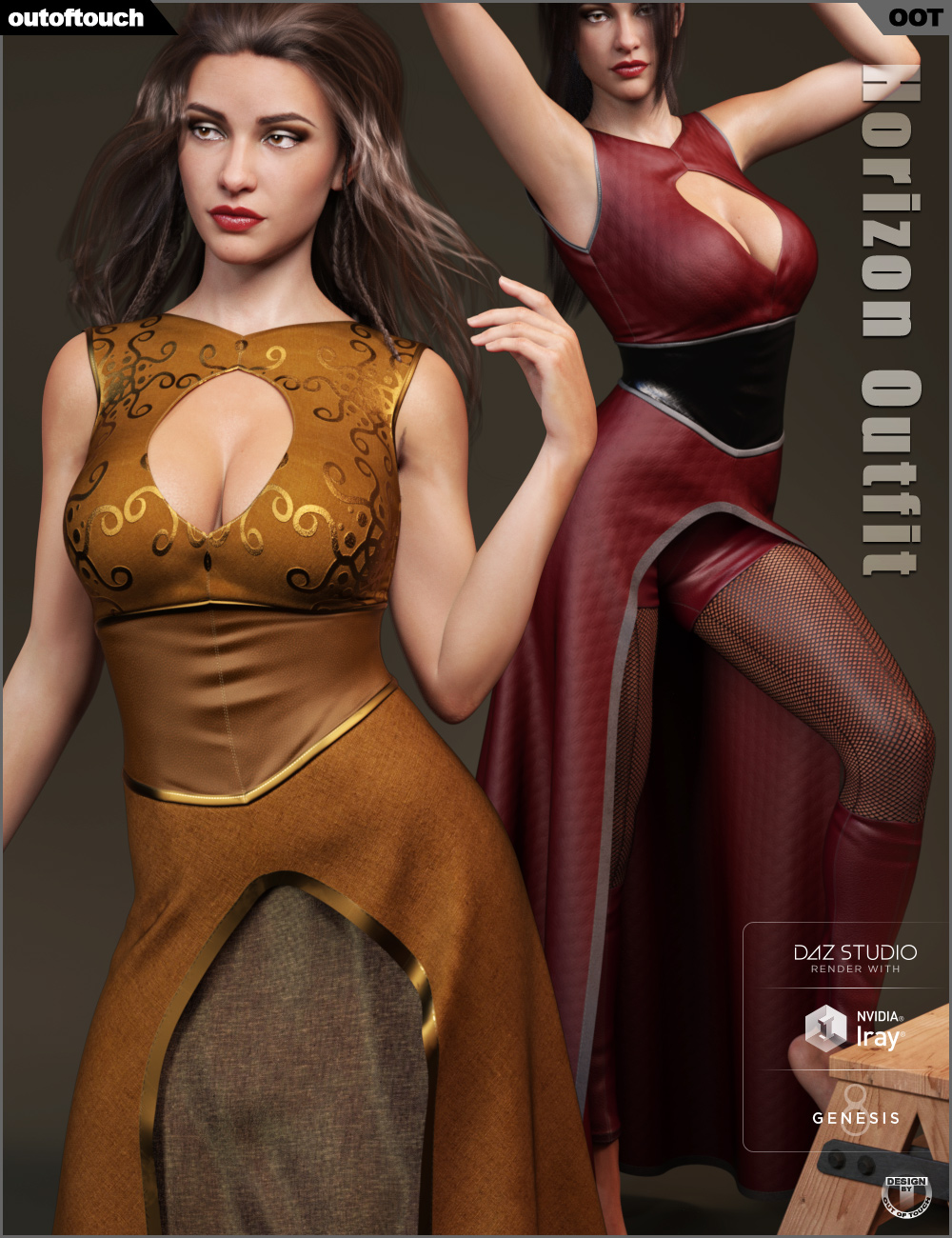 dForce Horizon Outfit for Genesis 8 Female(s) by: outoftouch, 3D Models by Daz 3D