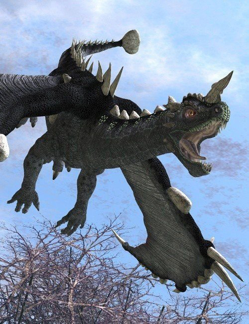 Hammer Tail Dragon by: , 3D Models by Daz 3D
