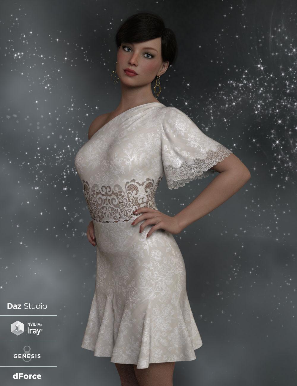 dForce Felicity Ann Dress for Genesis 8 Female(s) by: WildDesigns, 3D Models by Daz 3D