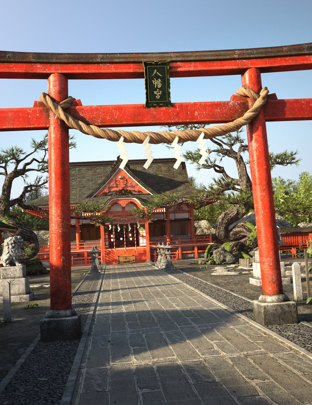 Japanese Shinto Shrine by: i74, 3D Models by Daz 3D