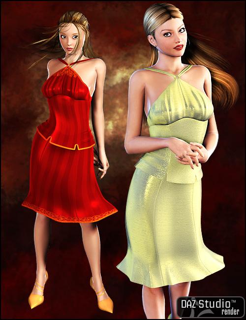 Uptown Halter Dress by: Barbara Brundon, 3D Models by Daz 3D