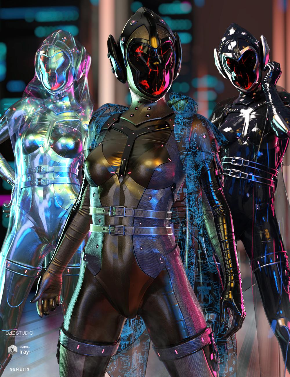 dForce Void Suit-X Outfit Iray Texture Set by: HM, 3D Models by Daz 3D