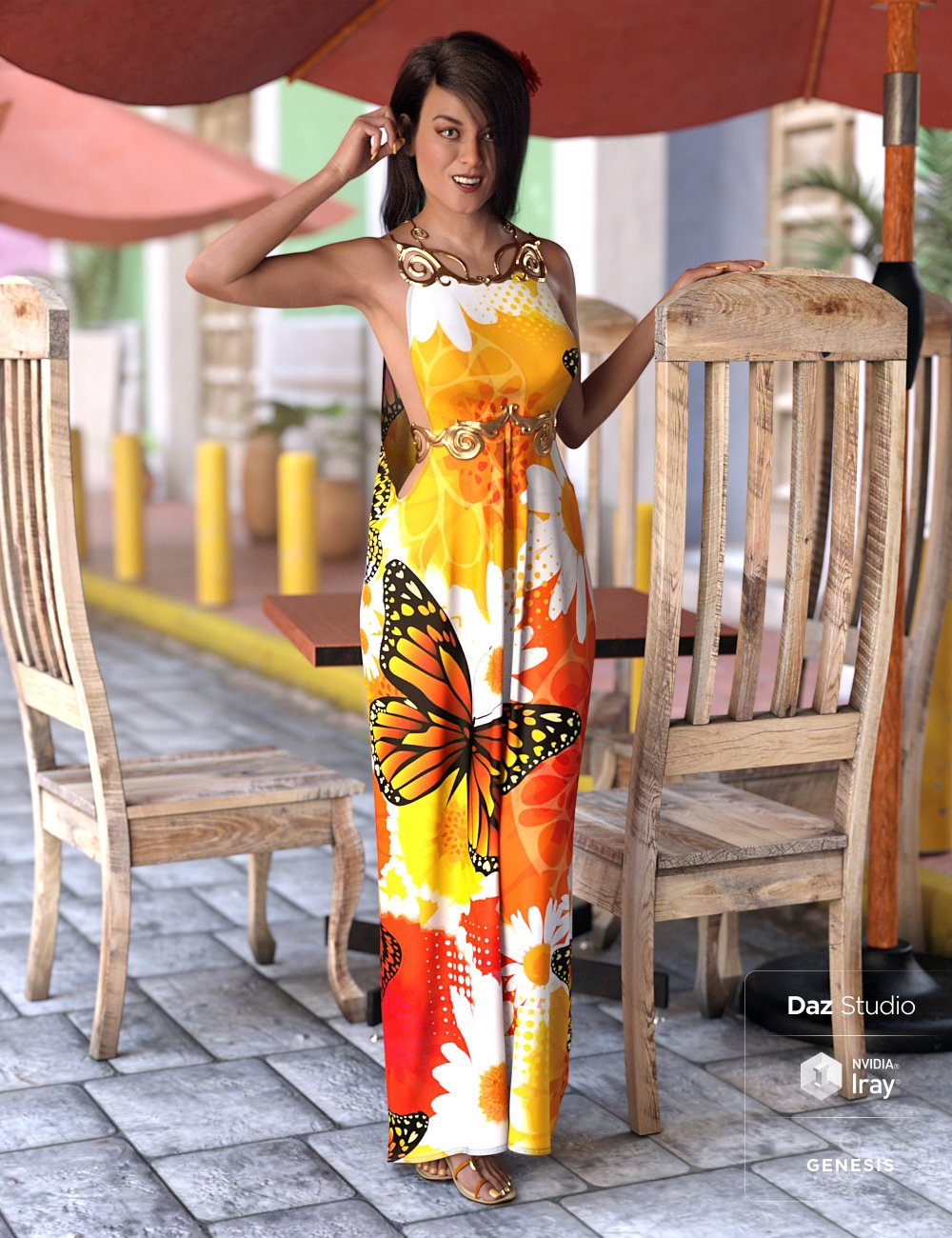 dForce Goddess of Grandeur Outfit for Genesis 8 Female(s) by: NikisatezShanasSoulmate, 3D Models by Daz 3D