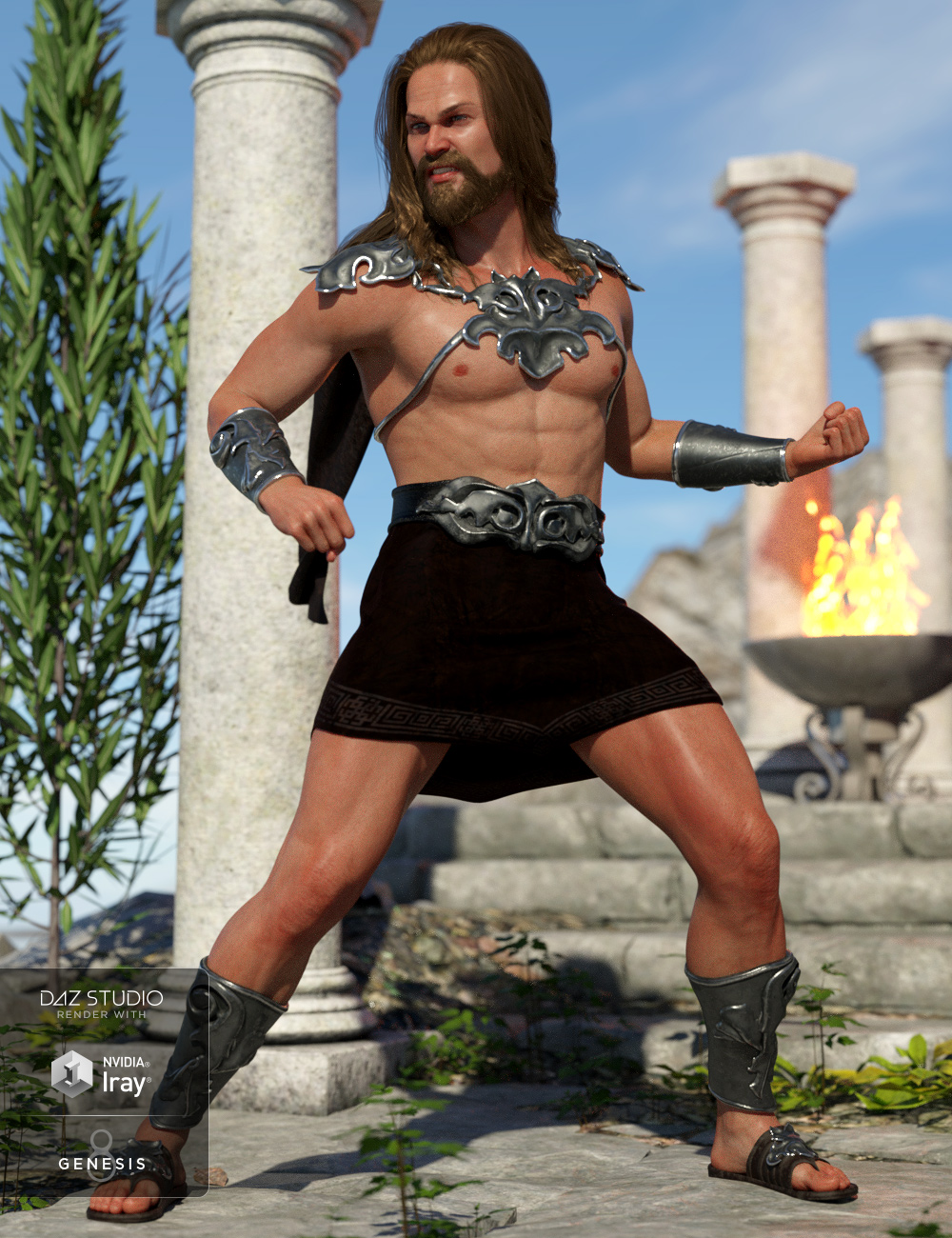 dForce Skyhaven Outfit for Genesis 8 Male(s) by: Moonscape GraphicsNikisatezSade, 3D Models by Daz 3D