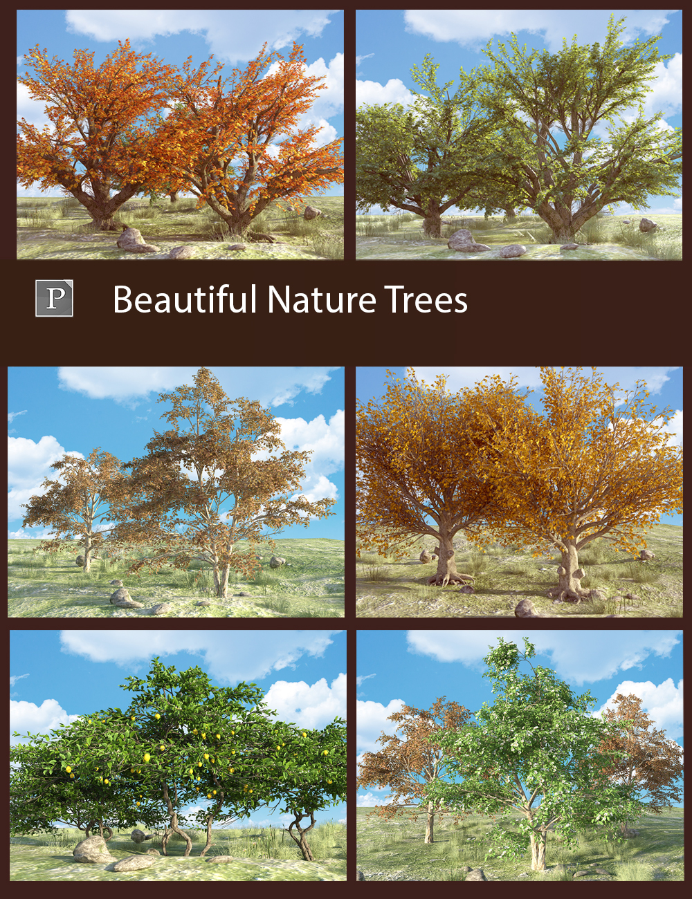 Beautiful Nature Trees by: Polish, 3D Models by Daz 3D