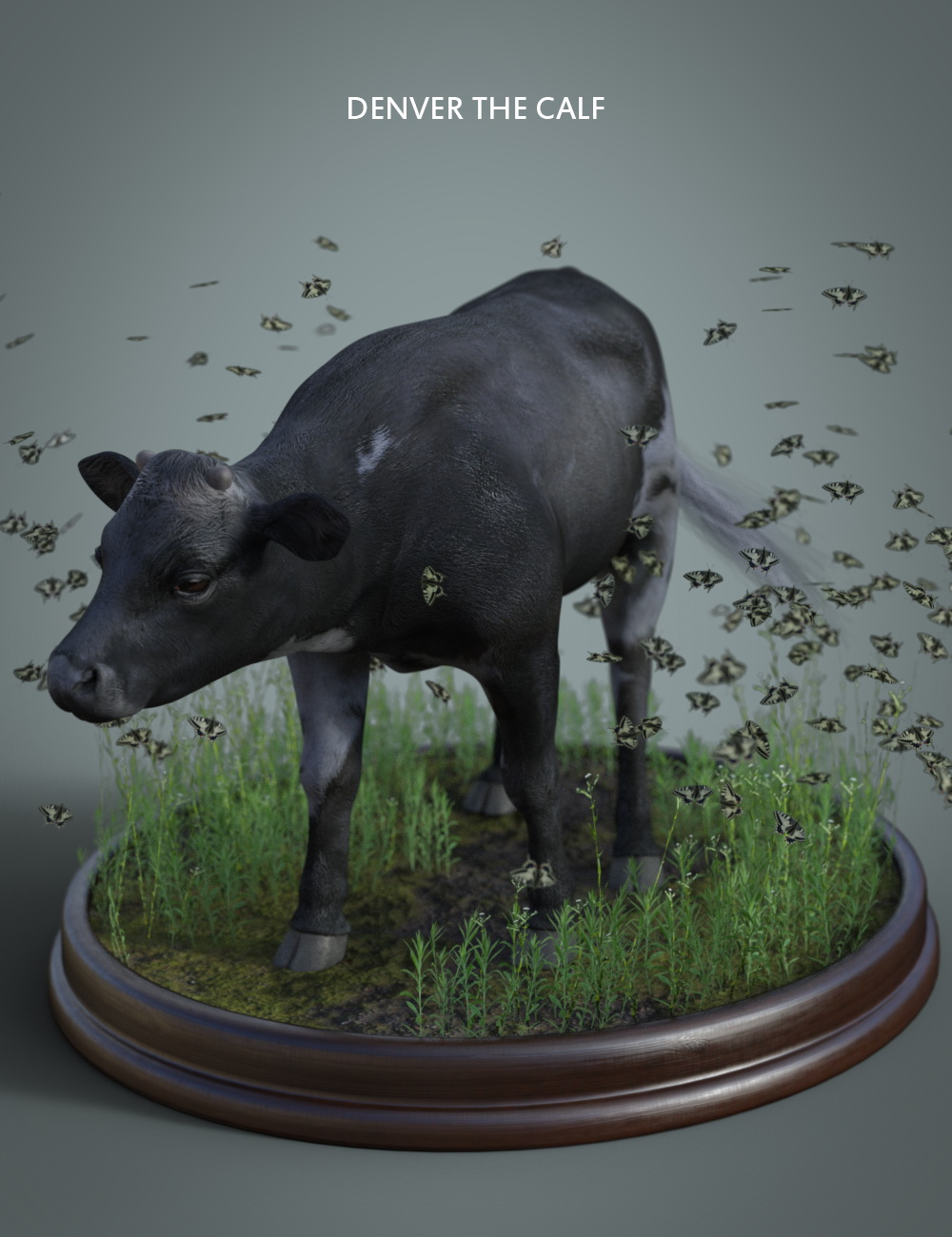 Denver The Calf HD for Daz Horse 2 by: Deepsea, 3D Models by Daz 3D