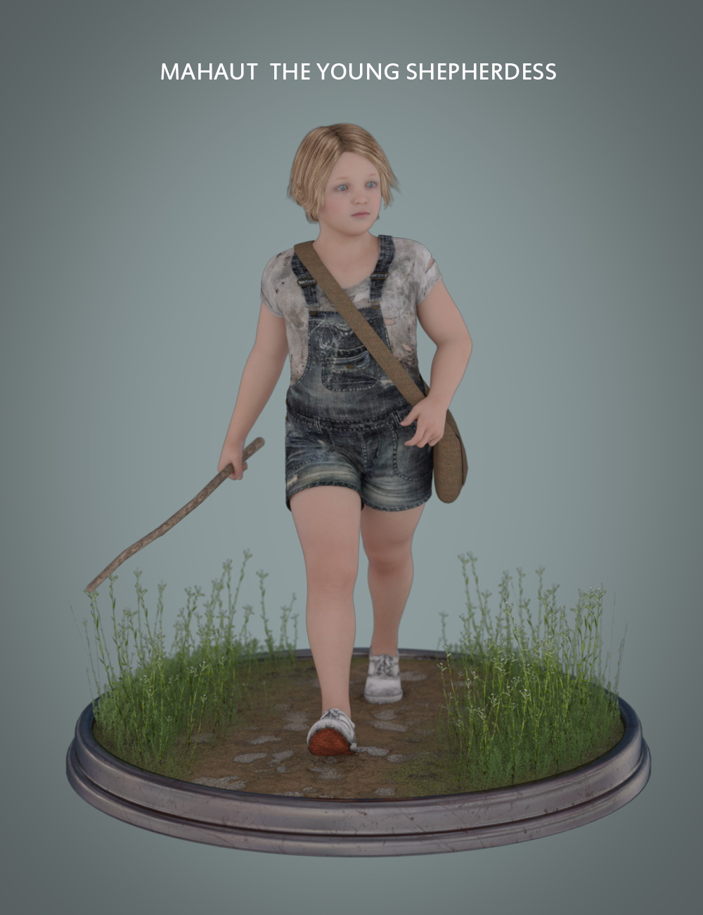 Mahaut The Young Shepherdess for Genesis 3 and 8 Female by: Deepsea, 3D Models by Daz 3D