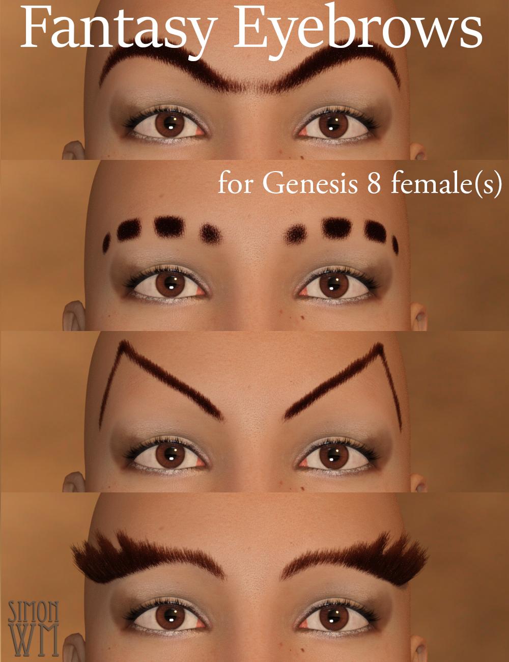 Fantasy Eyebrows for Genesis 8 Female(s) by: SimonWM, 3D Models by Daz 3D