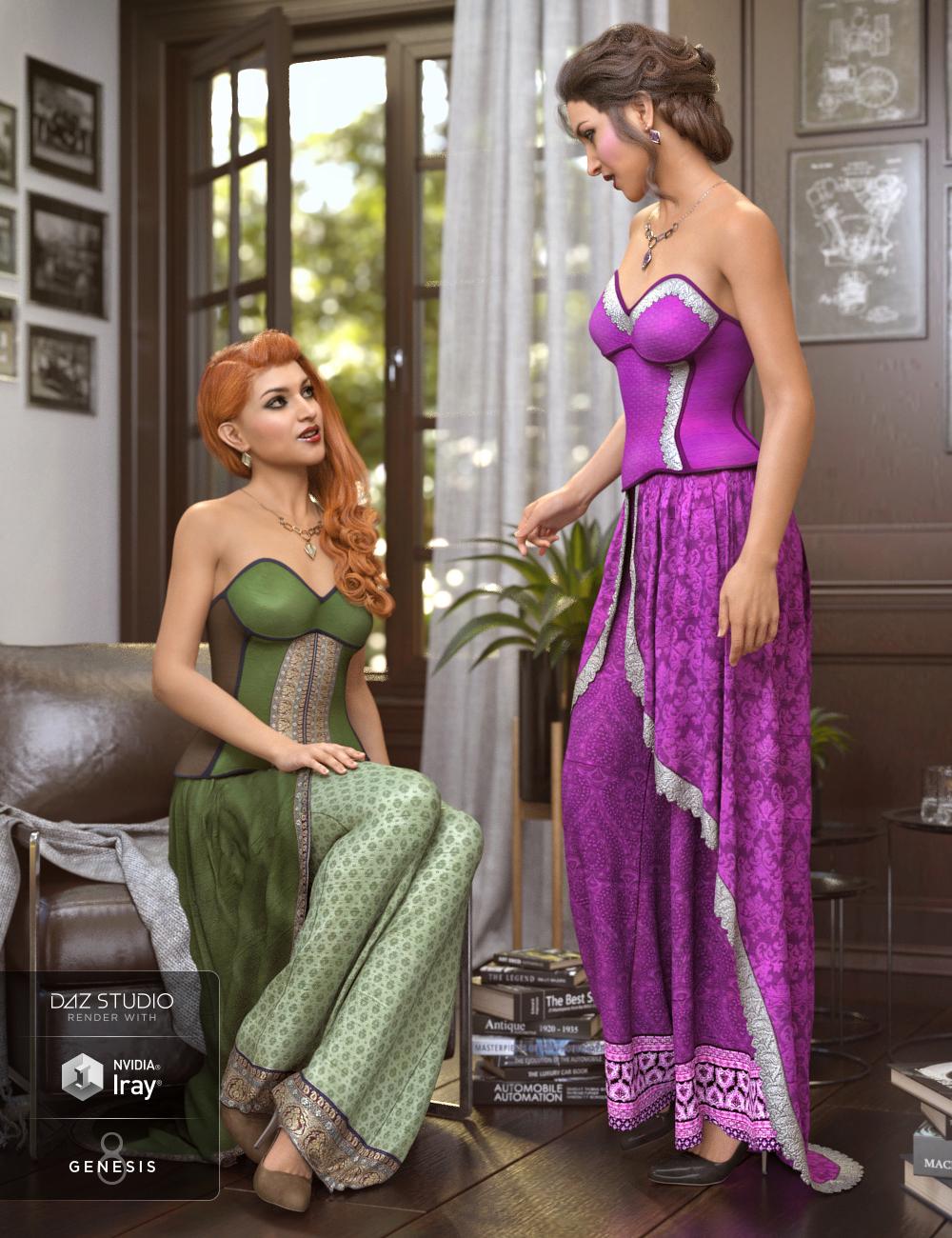 dForce Raeni Outfit Textures by: Arien, 3D Models by Daz 3D