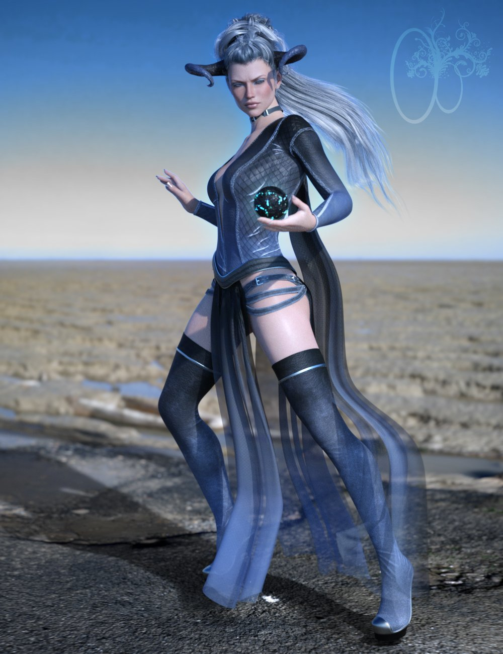 CB dForce Dark Essence Outfit for Genesis 8 Female(s) by: CynderBlue, 3D Models by Daz 3D