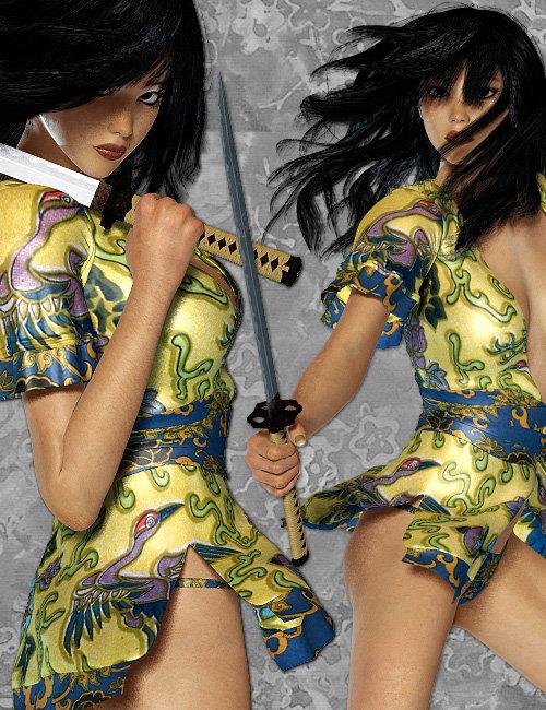 Kunoichi for A4/V4 by: Anna BenjaminElorOnceDark, 3D Models by Daz 3D