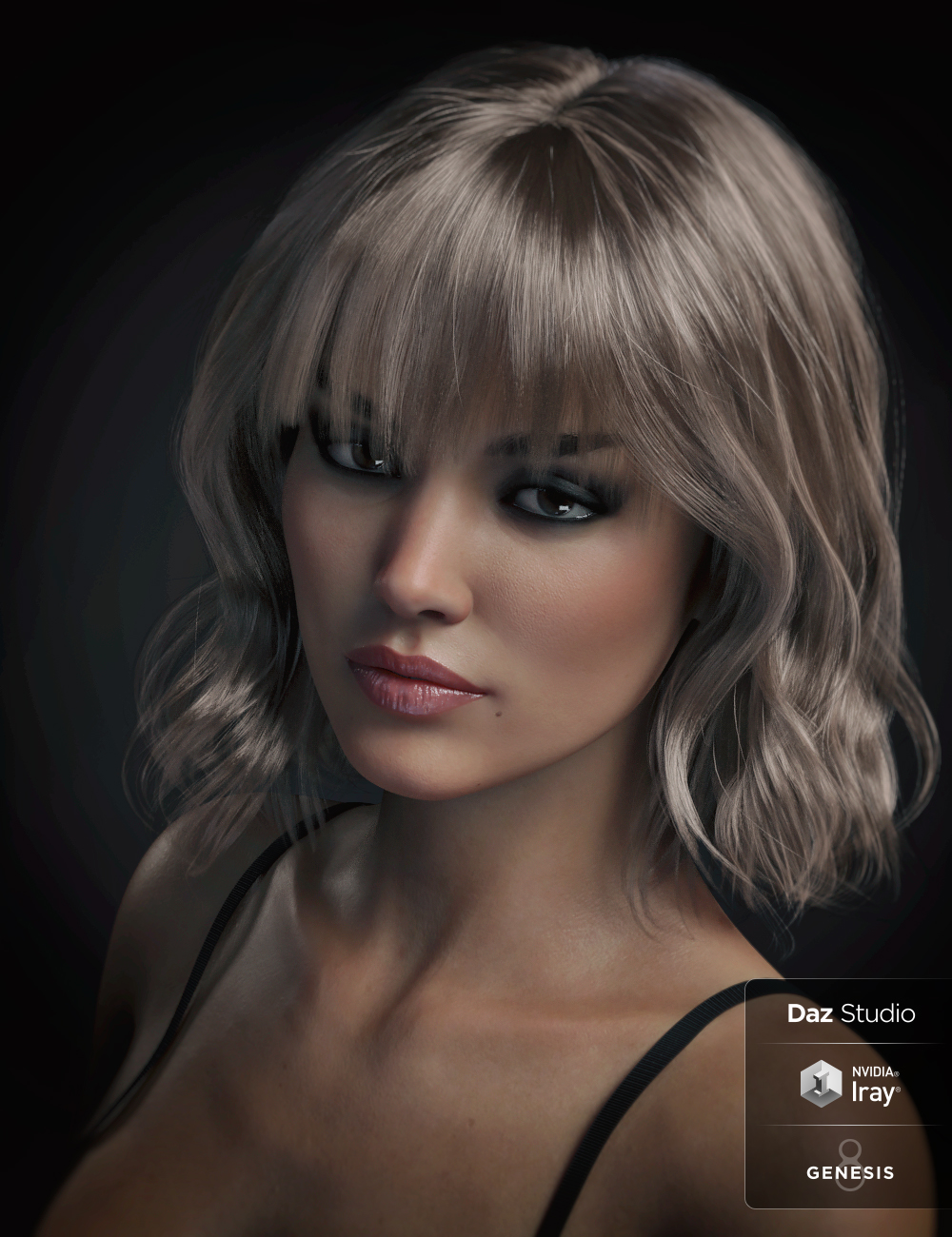 Taylor Hair For Genesis 8 Female(s) by: WindField, 3D Models by Daz 3D