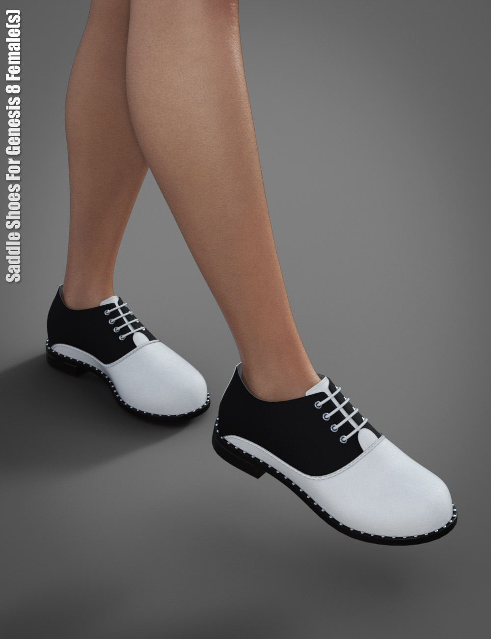 Saddle Shoes For Genesis 8 Female(s) by: dx30, 3D Models by Daz 3D