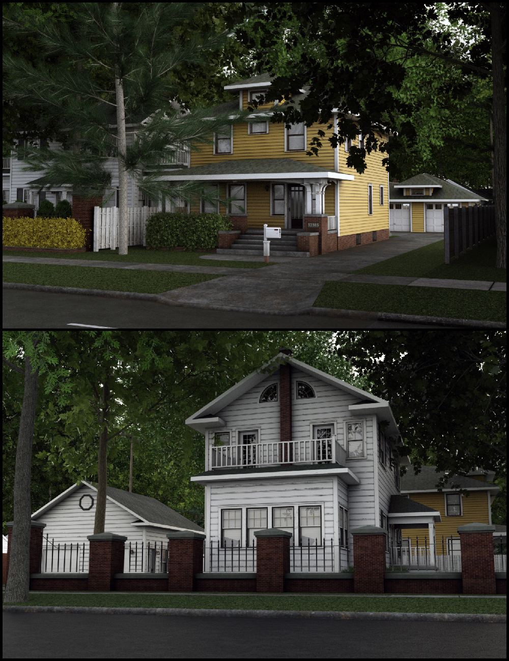 C3D Neighborhood XPack 3 by: Collective3d, 3D Models by Daz 3D