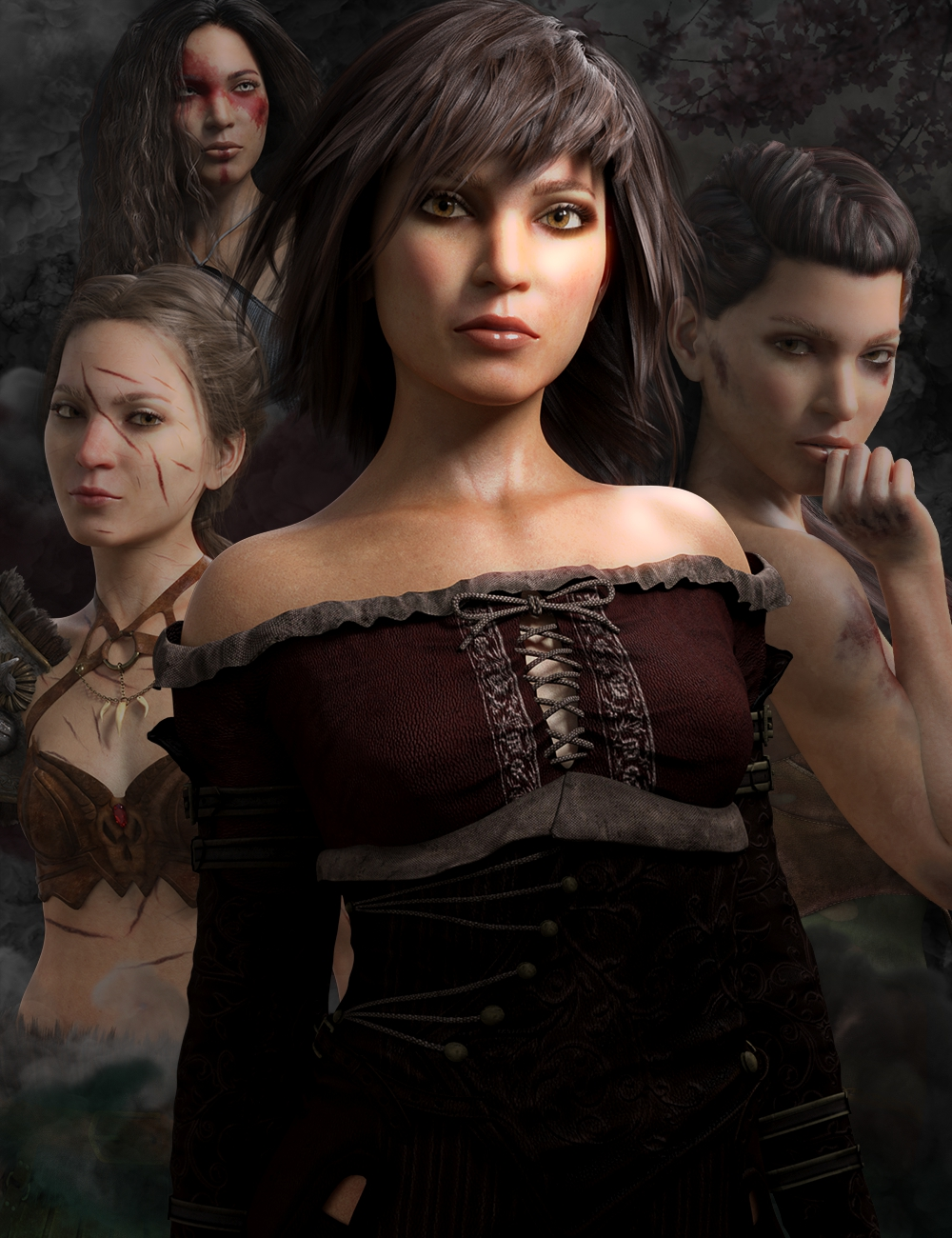 Bramble HD for Genesis 3 & 8 Female by: Lyoness, 3D Models by Daz 3D