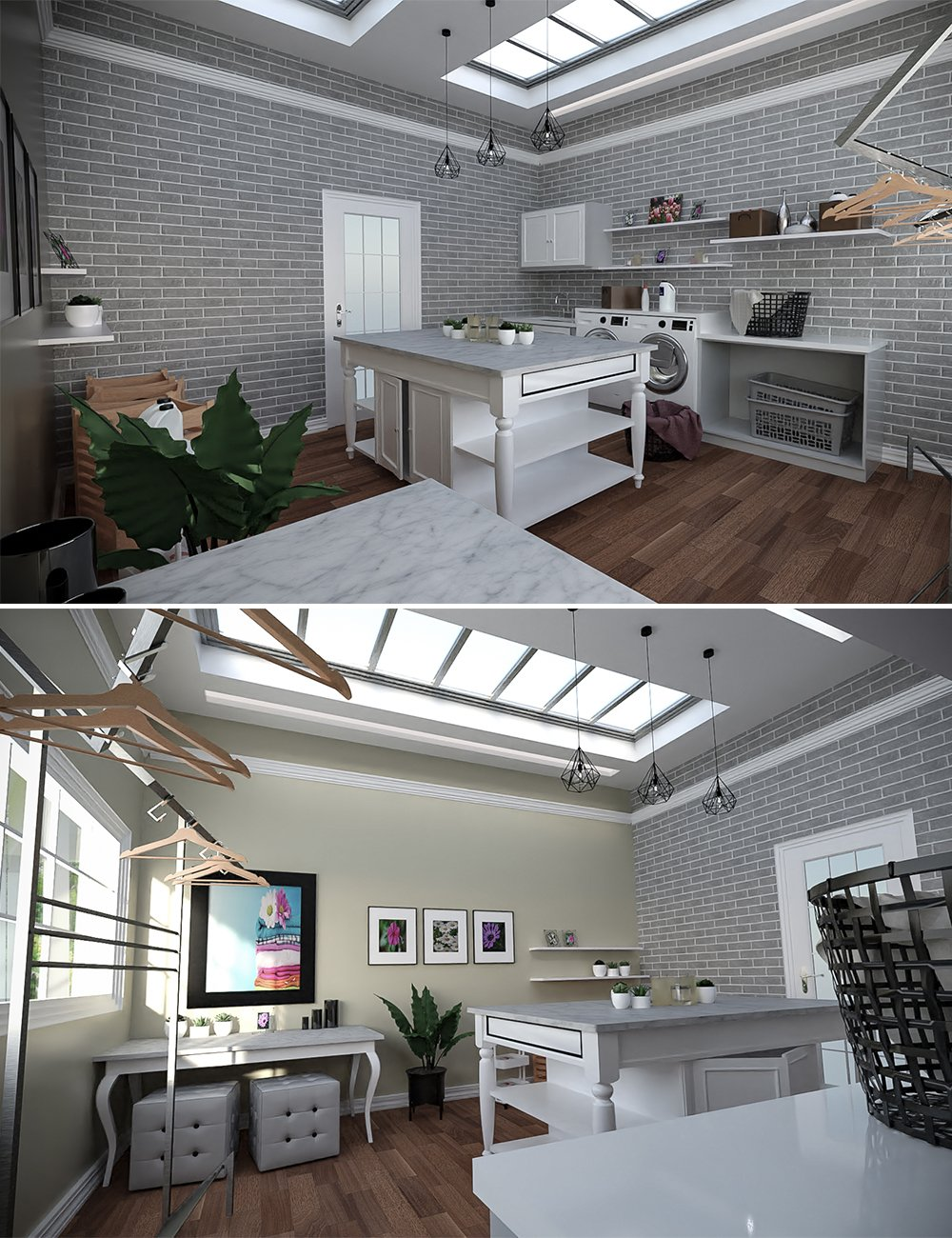 Laundry Room by: Tesla3dCorp, 3D Models by Daz 3D