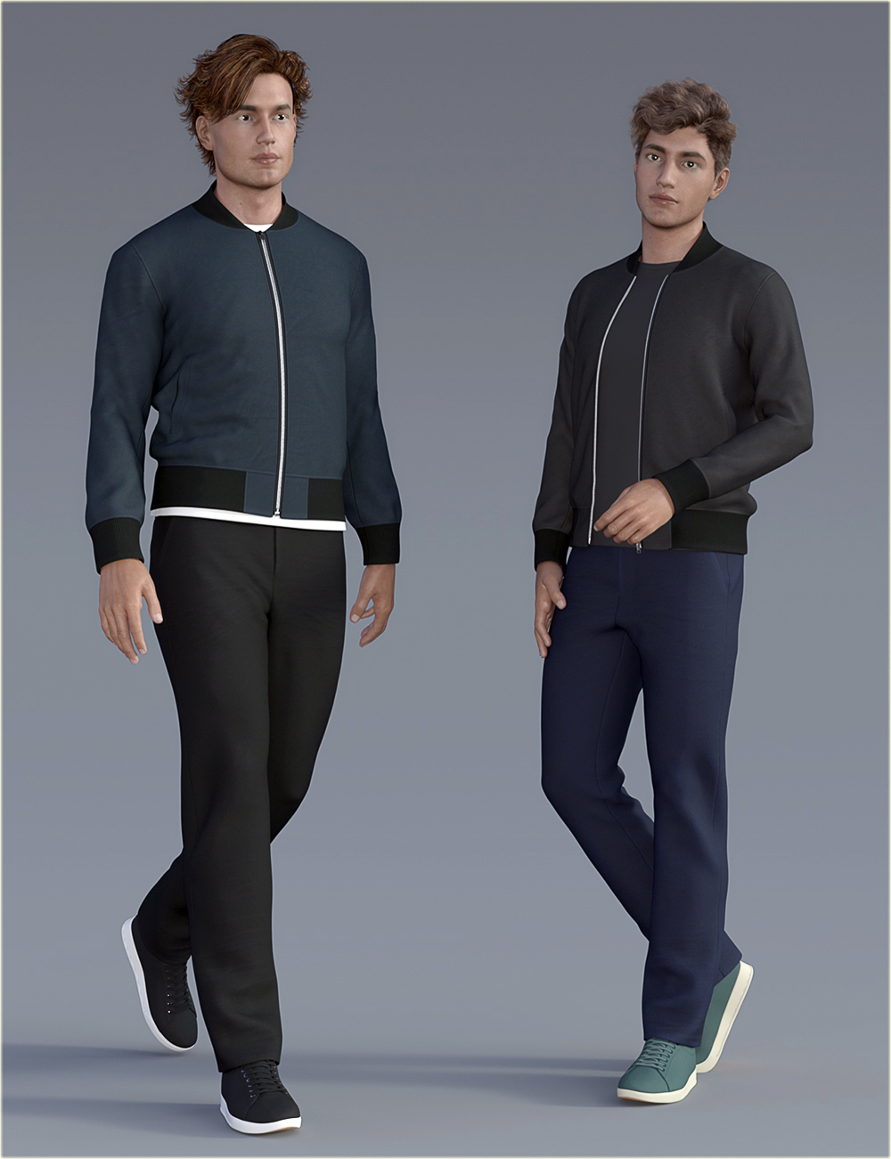 H&C dForce Basic Jacket Outfit for Genesis 8 Male(s) by: IH Kang, 3D Models by Daz 3D