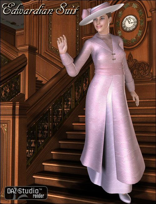 Edwardian Suit by: Ravenhair, 3D Models by Daz 3D
