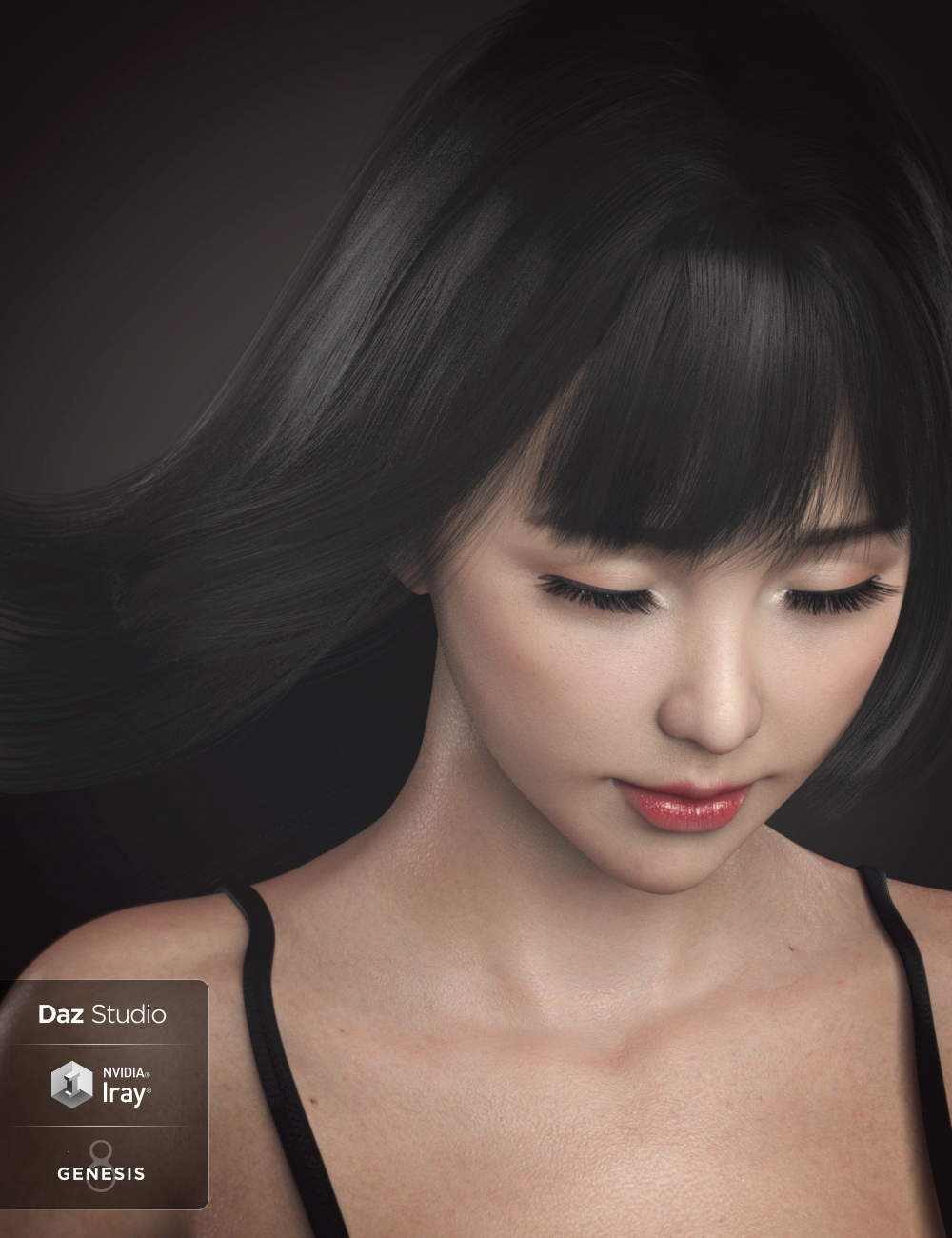 Grace Yong and Grace Yong Hair for Genesis 8 Female(s) by: RareStoneSprite, 3D Models by Daz 3D