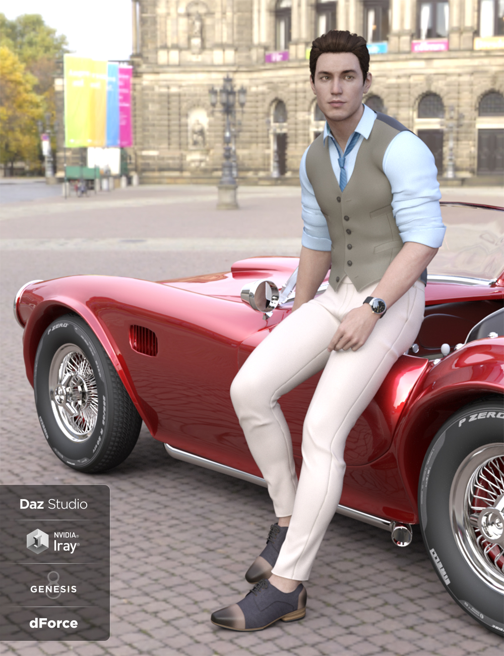 dForce Oxford Outfit for Genesis 8 Male(s) by: Blue Rabbit, 3D Models by Daz 3D