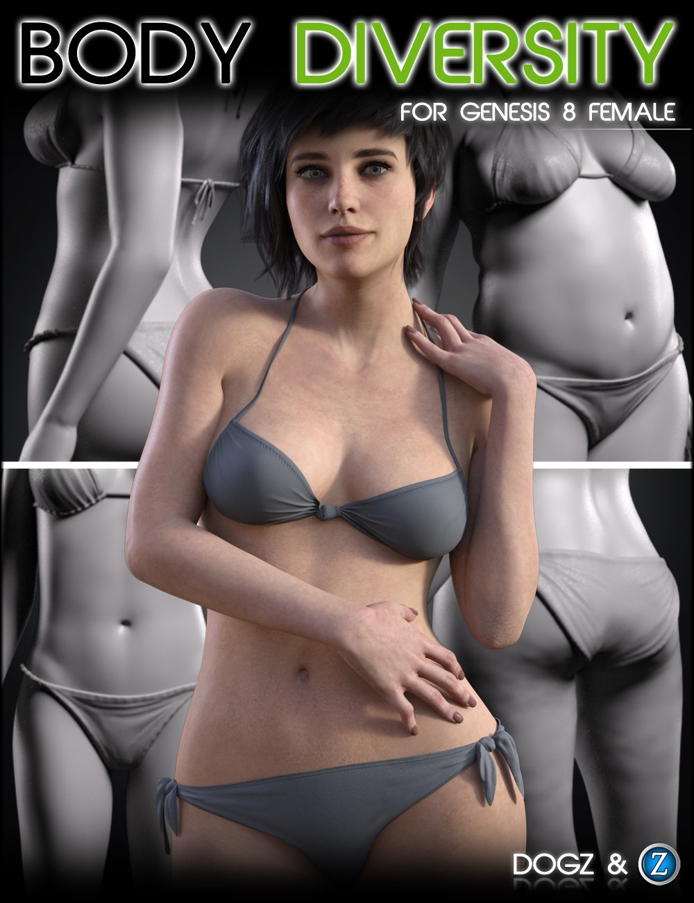 Body Diversity Morphs for Genesis 8 Female(s) by: DogzZev0, 3D Models by Daz 3D